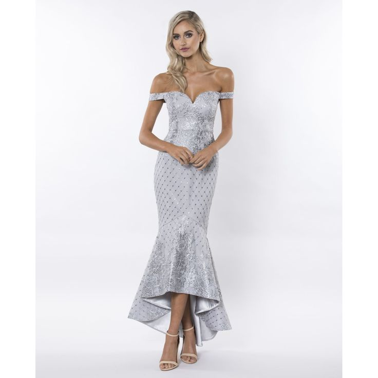 Bariano - Love Sequin Lace Fishtail Gown