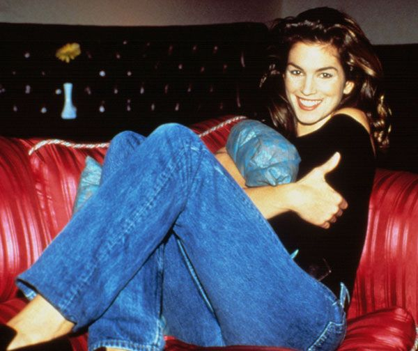 Cindy Crawford, 90s. | paint it, blue (jeans). | Stylish ...