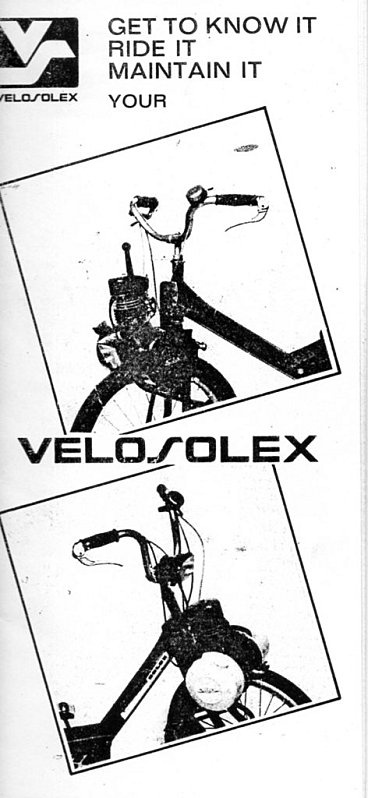 Owner's Handbook for the late 1968 - 1974 Solex S 3800: