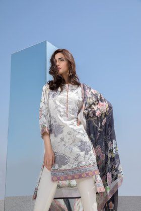 6ecfc54998 Sapphire 1 Piece Embriodered Simple Breeze Lawn Collection 2018 Custom  Stitched Shirt - Grey