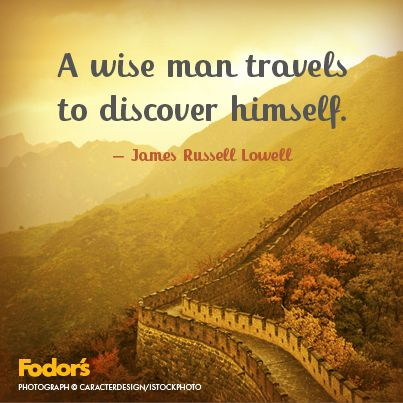 Travel is always a wise decision
