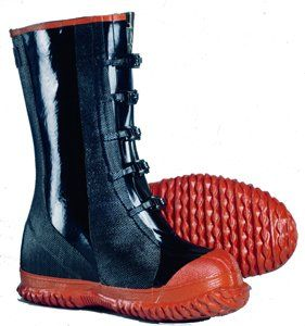 "5 Buckle Rubber Over-shoe Boots size 16 by Comfitwear. $24.65. 14"" Heavy duty 5 Buckle rubber over-shoe boot with wide last  Ozone resistant  Cotton lining self draining gusset  5 Adjustable Rust Resistant Buckles  Ribbed sole  Resistant to: Salt water, Solvents, Alkalis, Blood, Ozone, Grease, Tar, Gasoline and Oils  Perfect for nearly all industries: Construction, Farming, Fishing, Food processors, Manufacturers"