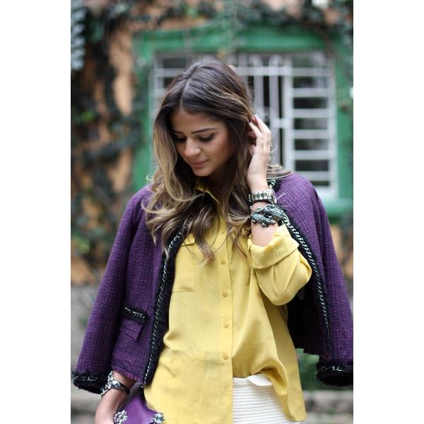 Meu look – Roxo + Amarelo no E-closet! « Blog da Thássia ❤ liked on Polyvore