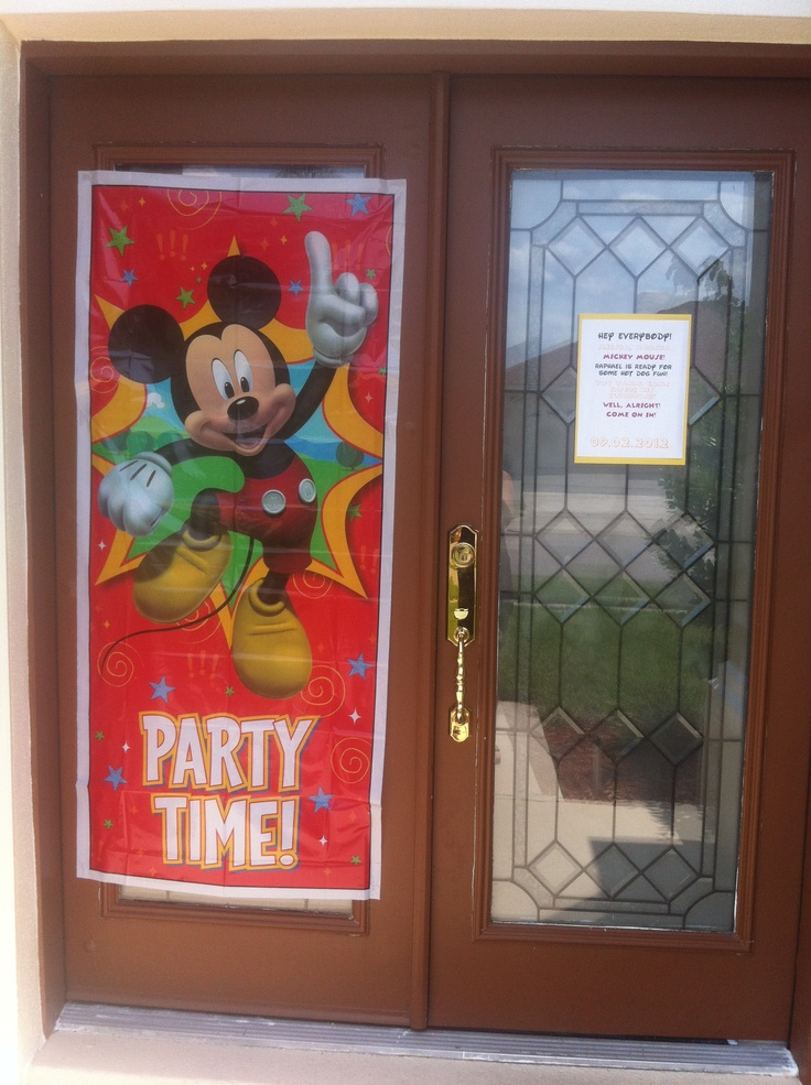 Mickey Mouse Clubhouse Door Cover From Party City 1st