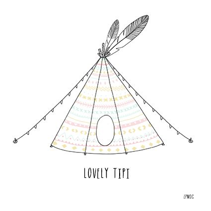 indian tipi illustration
