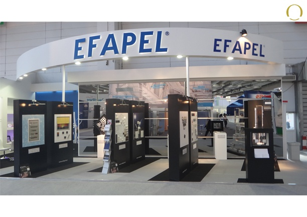 Exhibition Stand Assembly : Design assembly and dismantling stand efapel fair light