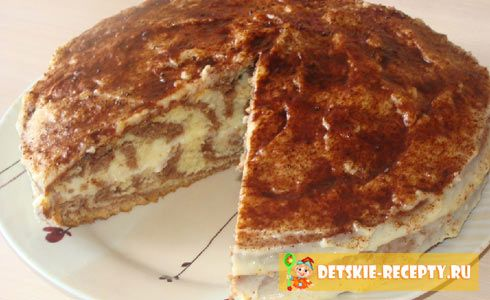 рецепт торта зебра