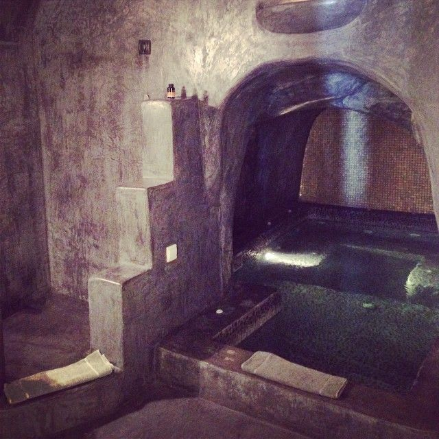 Private indoor cave jacuzzi at  #Andronis #luxury
