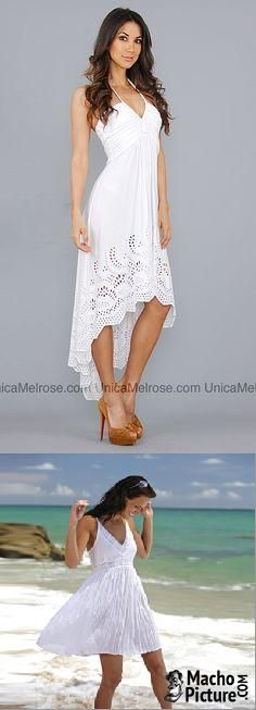White sundresses for beach - 3 PHOTO!                                                                                                                                                                                 More