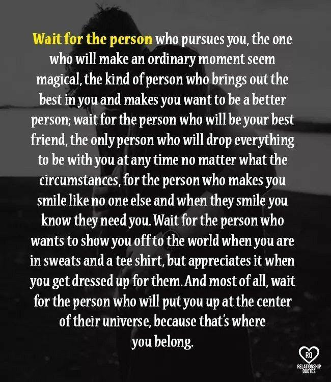 I don't want to be the center but I do want to be a big priority....