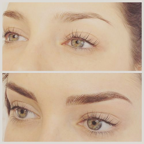 This is a YES for me.  Very natural .    eyebrow tattoo - Google Search