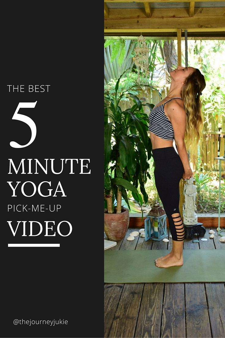 The Best 5 Minute Yoga Pick-Me-Up Video - Pin now, pick yourself up later!