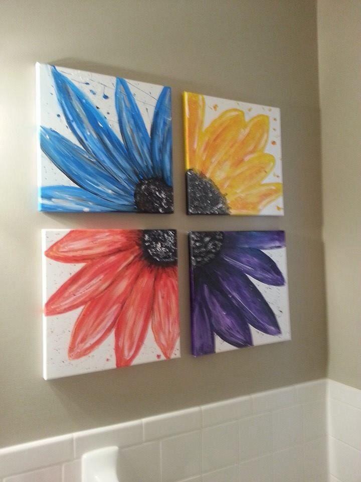 Flowers four 122 best Canvas painting images