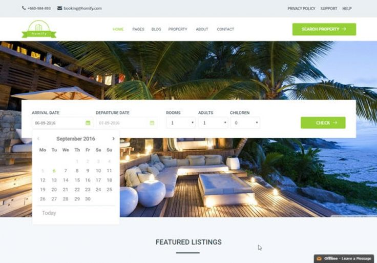 Homify is a Real Estate Joomla Template for real estate agencies and property owners to sell, buy or rent their properties. This is a very clean desig...