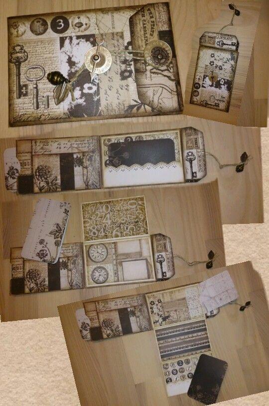 Kuverter til mønter, lavet til en multi lomme side, til et album