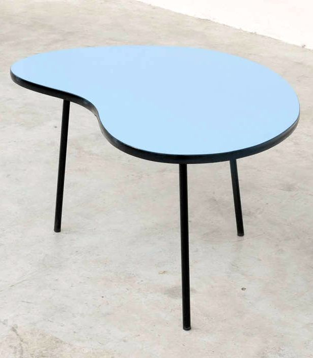 Enameled Metal And Firmica U0027Prefactou0027 Table For Meurop,