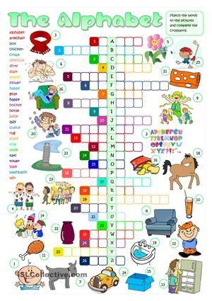 The English Alphabet - crossword