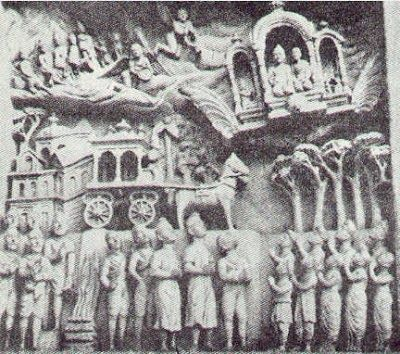 Stone sculpture depicting a Vimana, flying machines in Ellora caves, ancient India (1200 b.c.), Many Sanskrit epics, which were written in India more than two millennia ago, contain references to flying machines called vimanas.