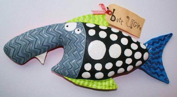 Here Fishy Fishy named ONE FANG by buttuglee on Etsy