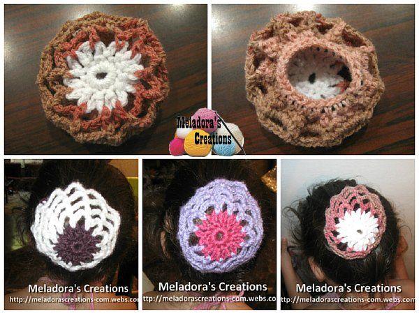 Crocheted Hair Bun Cover - Free Crochet Pattern
