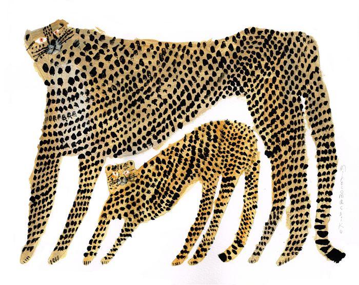 MirocoMachiko: leopard kitties art and illustration
