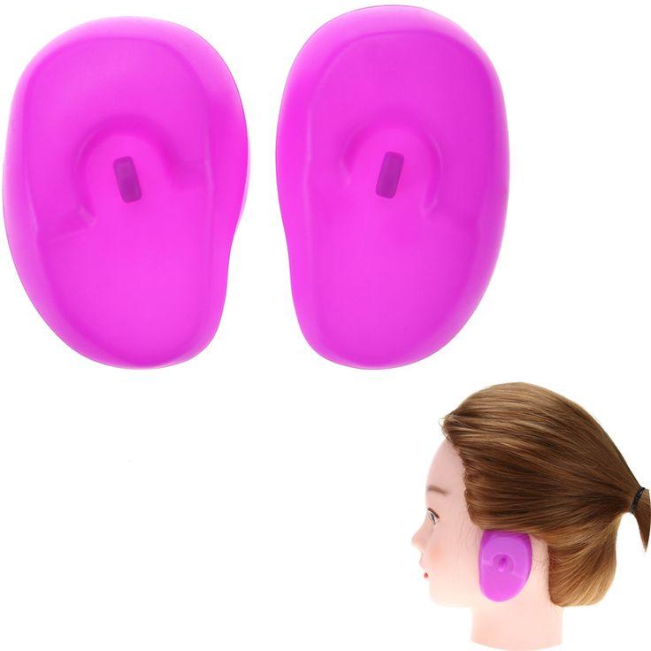 1 paia/set Viola Pro Salon Trasparente Del Silicone Orecchio Copertura Dell'orecchio di Protezione Tinture Per Capelli Shield Proteggere Colore Styling Accessori