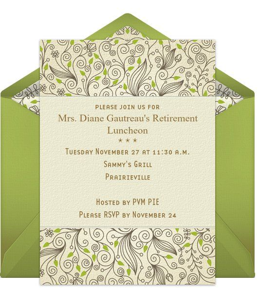 10 best Retirement invites images on Pinterest Retirement party - best of free invitation templates for retirement party