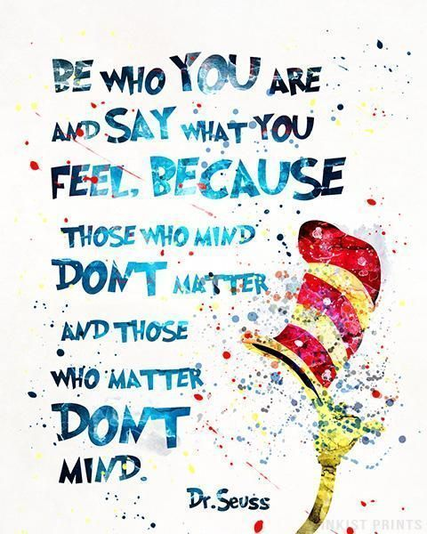 Dr Seuss Quote Type 10 Print Dr Suess Quotes Dr Seuss Posters