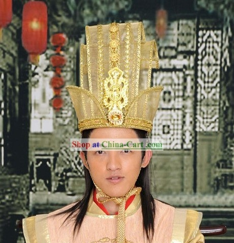 Chinese Emperor Hat Ancient Chinese Wig Wigs Hair