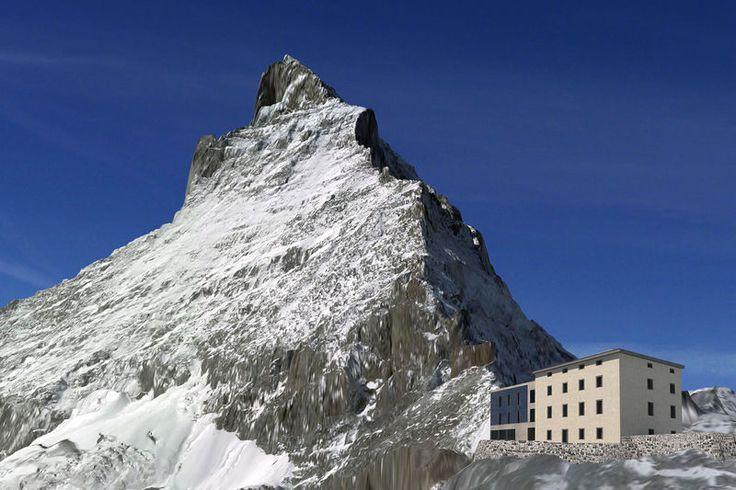 Hörnli-Hütte Wallis Schweiz Matterhorn