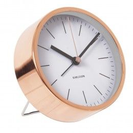 Dont' be late getting up for all those lectures. This lovely copper Minimal Alarm Cock is just £19.99