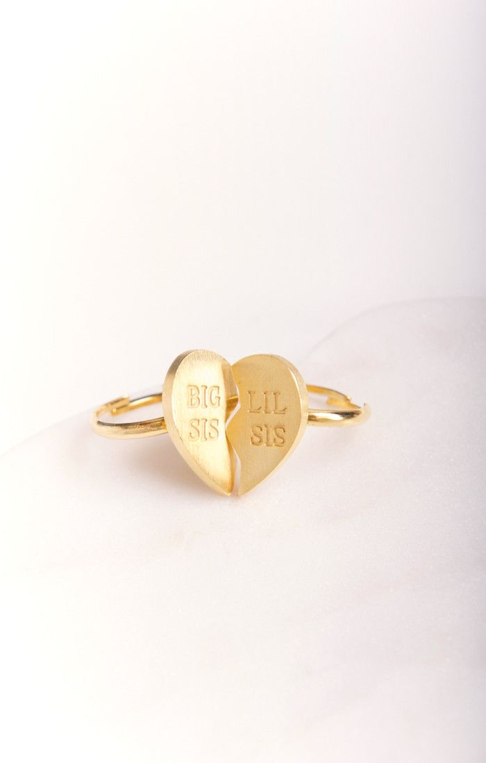 Big Sis Lil Sis Ring Set ~ Gold Plated | Show Me Your Mumu