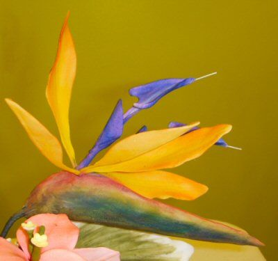 Bird of Paradise by Sheila Brooks from Tropical Flower Class at Cake Craft ShoppeTropical Flower