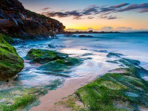 Salida del sol en la playa Curl Curl (Australia)