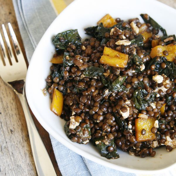 Balsamic Kale and Black Beluga Lentils