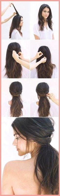 lange Haarmodelle - DIY Half Up Half Down Wedding Hairstyle                                         ...  #longhair2019 #longhairmaking #longhairstyles