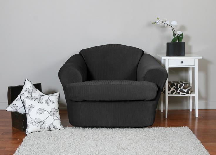 16 best images about sleek black furniture slipcovers on for Black furniture slipcovers