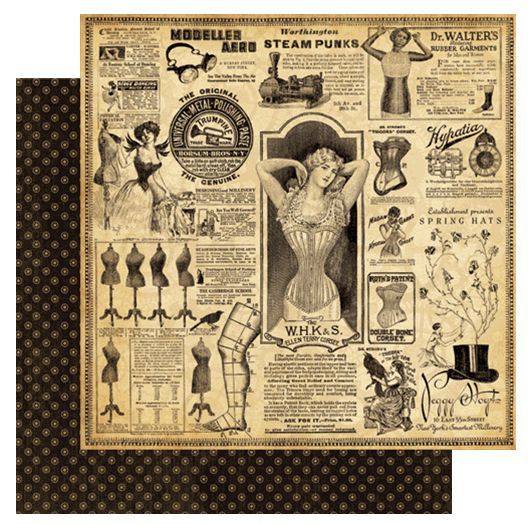 Graphic 45 - Steampunk Debutante Collection - 12 x 12 Double Sided Paper - Eclectic Emporium at Scrapbook.com $0.99