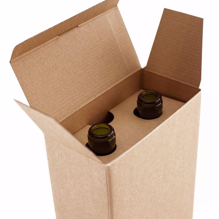 Caja de 2 botellas sin asa - Kraft