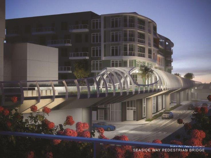 9.3 Million Wave-Inspired Bridge to Connect Terrace Theater ...
