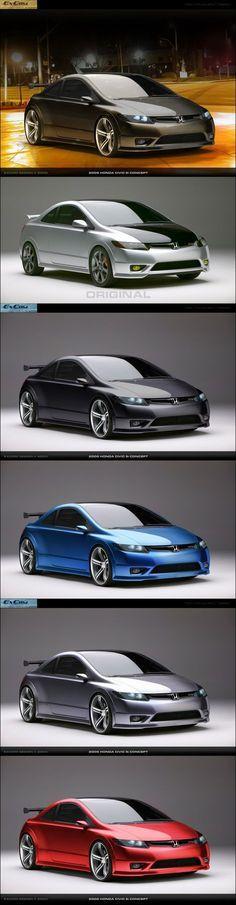 2006 Honda Civic Si Concept by ~ExCom on deviantART