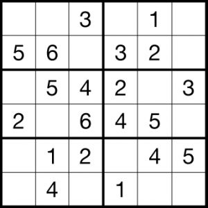 Persnickety image pertaining to 6x6 sudoku printable