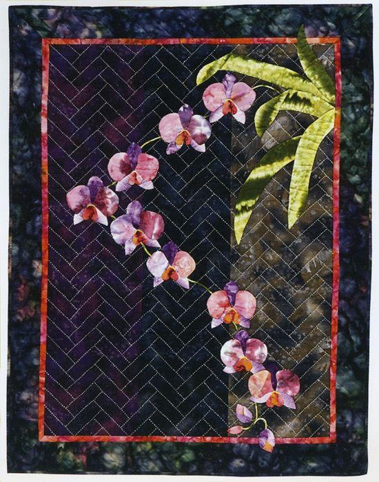 172 best Orchid quilt images on Pinterest   Floral arrangements ... : orchid quilt pattern - Adamdwight.com