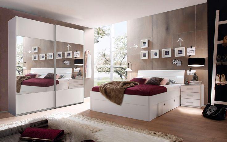 Schlafzimmer-rom-Bett-mit-Wall-Farbe-weiß-grau Schlafzimmer - möbel hardeck schlafzimmer
