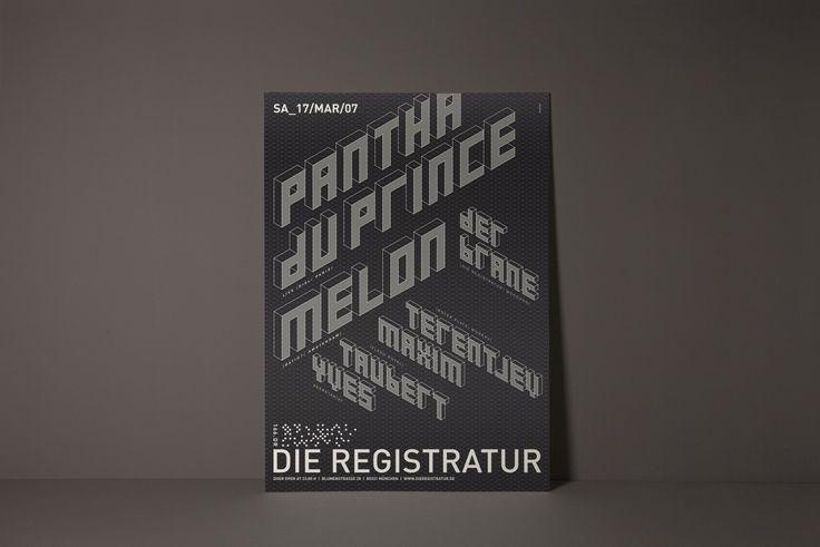 Die Registratur: Plakat PANTHA DU PRINCE || Plakatdesign: Designliga - Design Büro in München