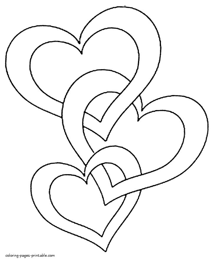 hearts coloring pages to print - Valentine Heart Coloring Pages