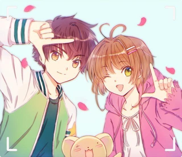 Sakura, Shaoran & Kero-chan.