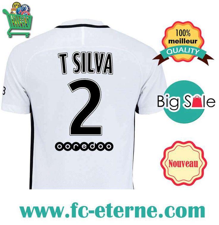 Site Maillot de Foot PSG (T SILVA 2) 2016-2017 Third |fc-eterne