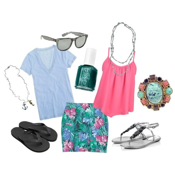 Hawaiian themed outfits - one skirt, ultra-casual  dressy-casual