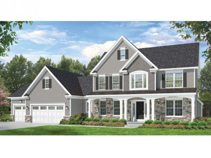 25 best ideas about colonial house exteriors on pinterest for Traditional colonial house plans